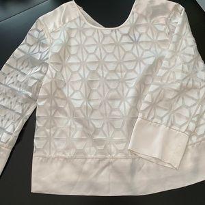 Armani Exchange white patterned blouse size medium
